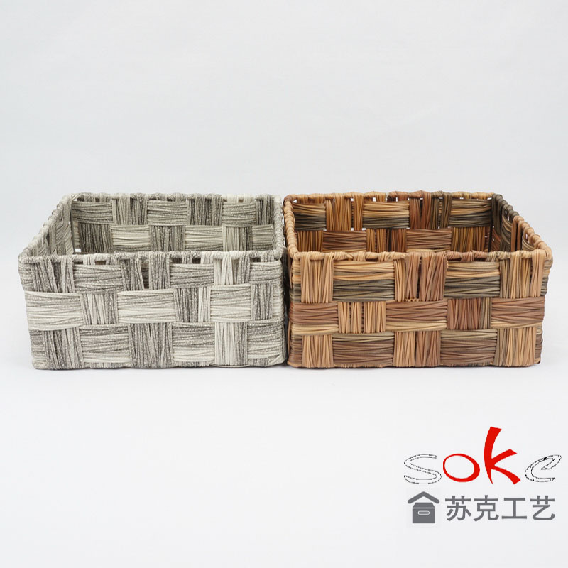 PE rattan storage basket made in china