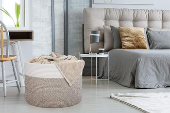 Storage basket for living room