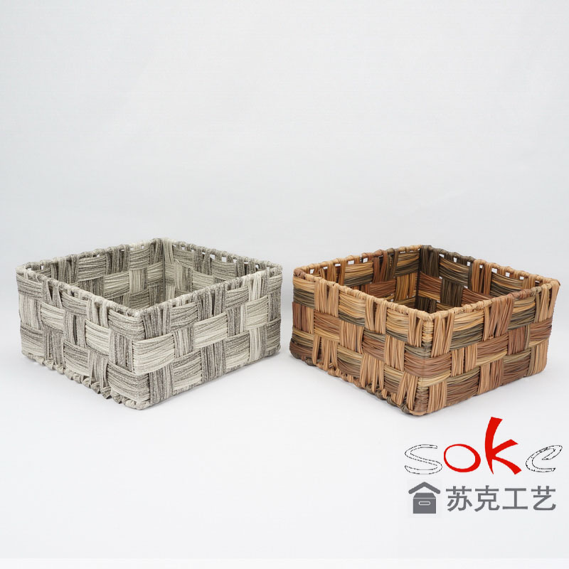 China pe rattan storage basket factory for bathroom