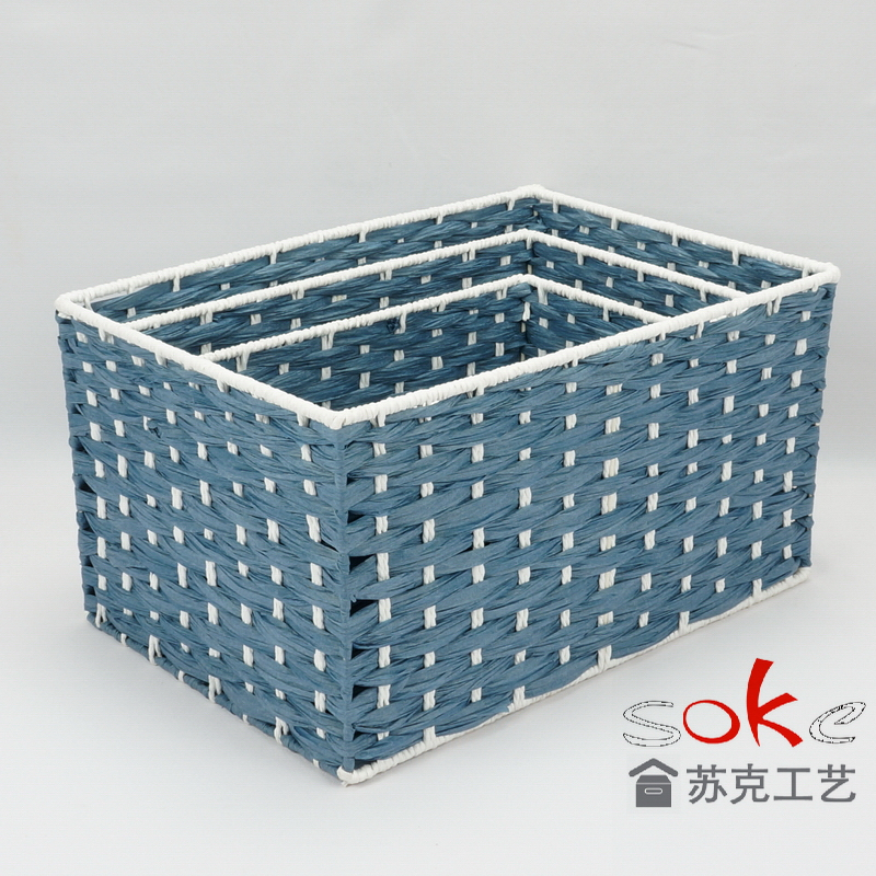 Paper rope woven storgae basket manufacturers