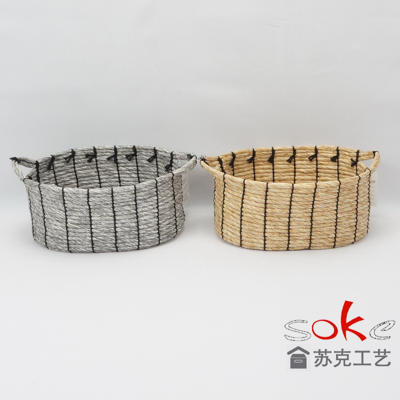 Storage basket for paper rope in living room or even work place