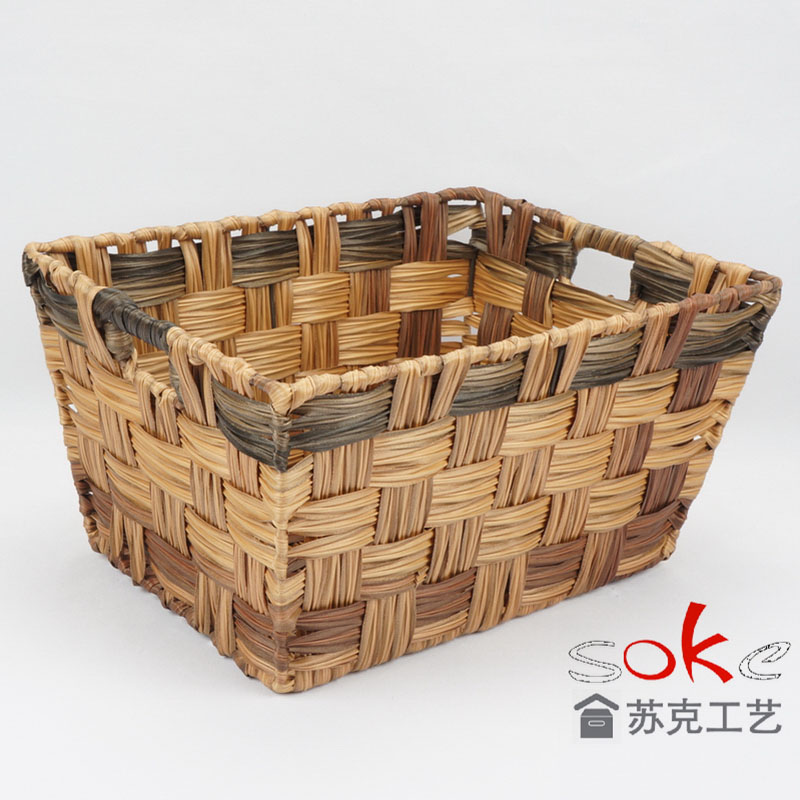 PE rattan home storage bin suitable any environment