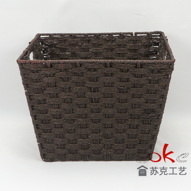 Paper rope storage basket free sample